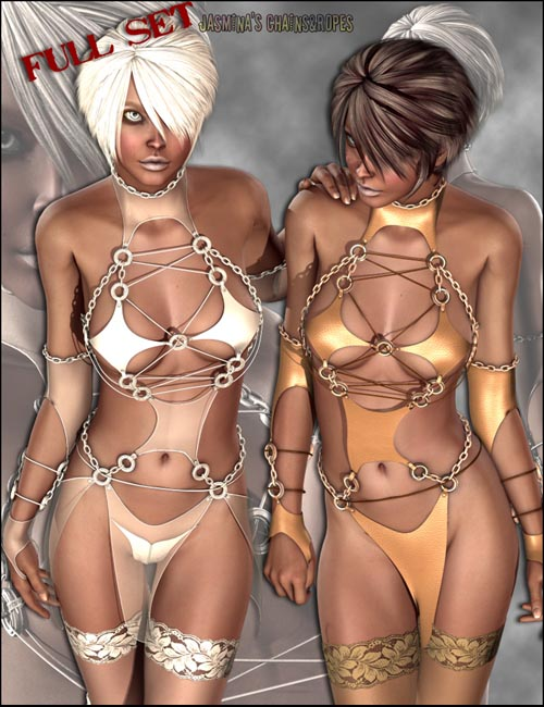 Renderosity Chains & Ropes Dressing Bundle (V4.2 Elite,Aiko4)
