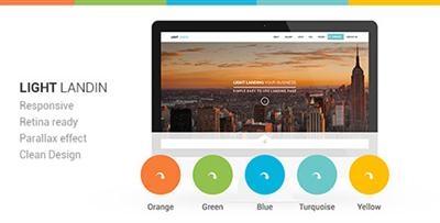 ThemeForest - Light Landin Multipurpose Parallax Landing Page - RIP