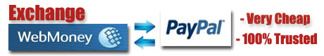 Exchange Webmoney to Paypal