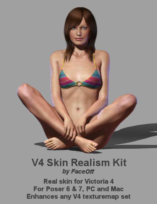 3d daz - V4 Skin Realism Kit
