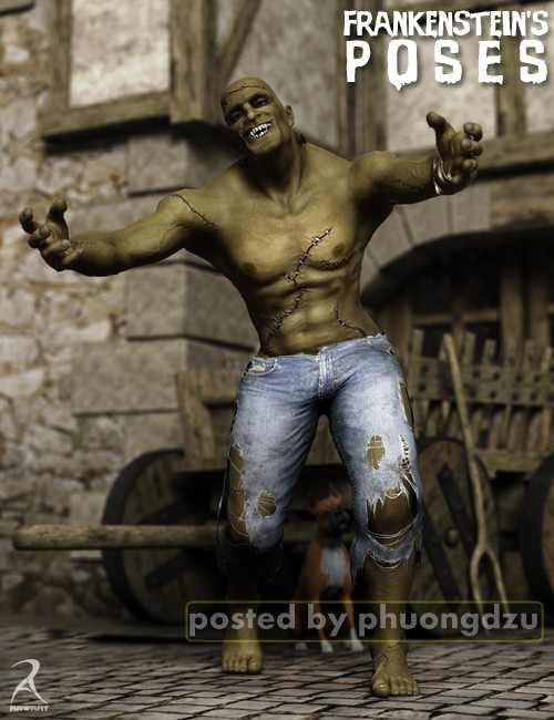 Daz3D Monster Classics: The Victorian Monster Poses