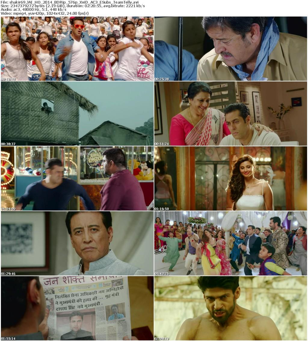 Jai Ho (2014) - BDRip - 576p - XviD - AC3 - ESubs - [TeamTelly]