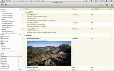 OmniOutliner Pro 4.2.1 (MacOSX)