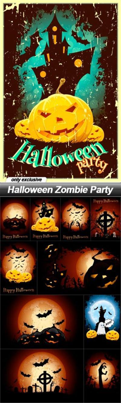 Halloween Zombie Party - 11 UHQ JPEG