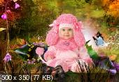 Шаблон  детский -  Розовый пудель