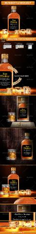 GraphicRiver - Rum Bottle Mockup