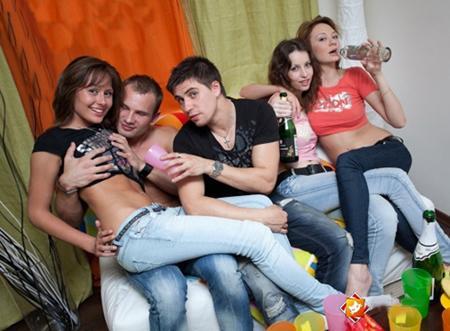 Русские студенты отдыхают