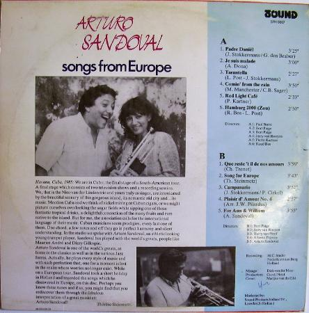 Arturo Sandoval - Songs from Europe (1985)