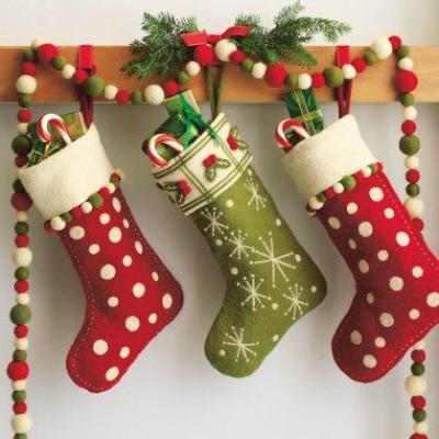 Носок к новому году своими руками