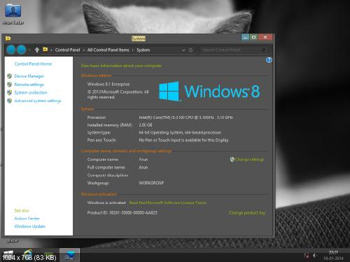 Windows 8.1 Sweet Like Chocolate x64 2014 Including Activators