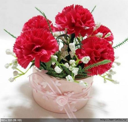 Цветы из гофрированой бумаги 93f7f1925888a1980eab013b9781b23f