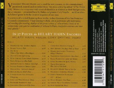 Hilary Hahn (violin) – The Encores (In 27 Pieces), 2 CD / 2013 DG