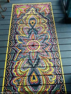 Ручная роспись деревянного пола. Идеи 8aece1824cb74e4c2634a1c1d2bde95d